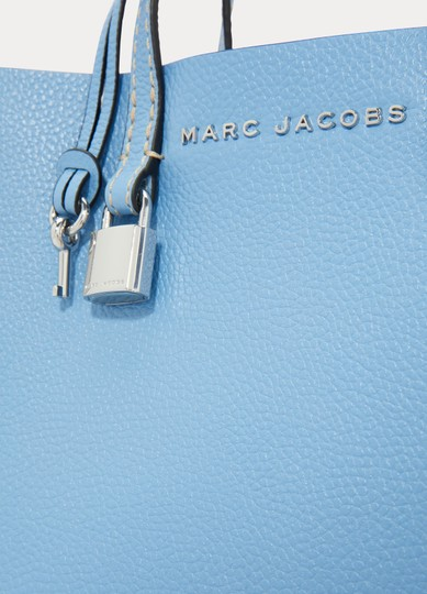 Marc Jacobs Mini Grind Pebbled Leather Crossbody Saphire Tote in Blue Image 3