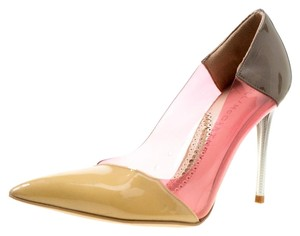 Stella McCartney Patent Leather Pointed Toe Multicolor Pumps
