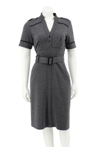 OC by Oleg Cassini Ponte Knit Belted Utility Shirt Dress
