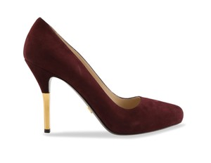 Prada Suede Leather purple Pumps