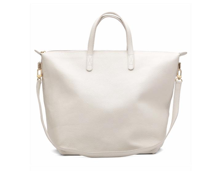 Item - Carryall Oversized Tote Ecru / White Made In Argentina with The Finest Argentine Leather Cross Body Bag