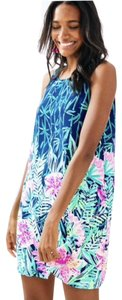 Lilly Pulitzer Silk Shift Floral Print Party Dress