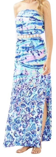 Item - Purple Lp Blue Currant Making Waves Mika Strapless Long Casual Maxi Dress Size 2 (XS)