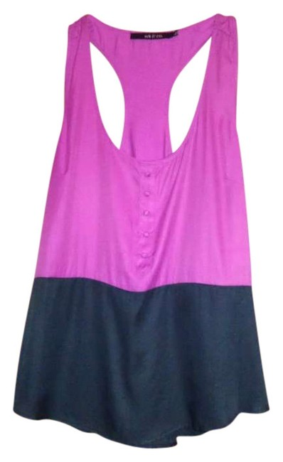 Ark & Co. Color-blocking Top Pink/Black