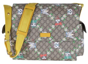 459b31de4 Gucci New Coated Love Pets Multicolor Gg Supreme Canvas Diaper Bag ...