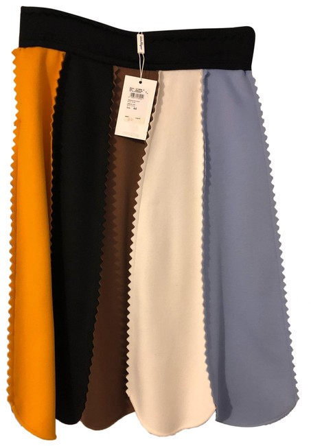 Item - Multi-blue/Ivory/Brown/Black/Orange 13 X856 S Skirt Size 10 (M, 31)
