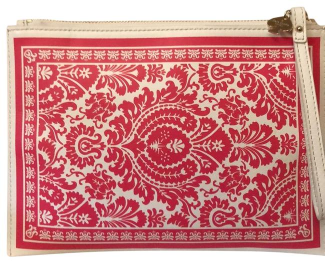 Item - Playing White Red Black Leather Wristlet
