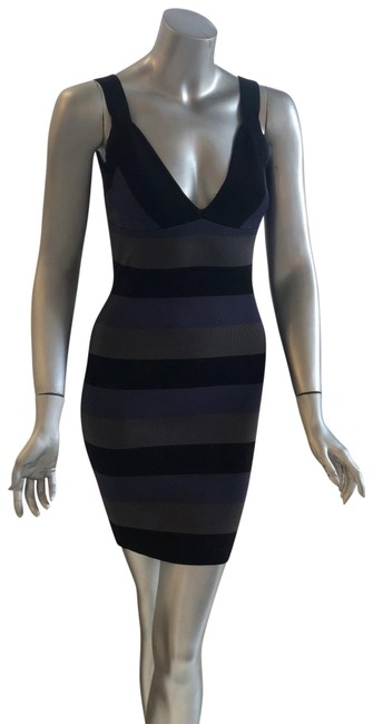 Item - Multicolor Sleveless Striped Mid-length Night Out Dress Size 6 (S)