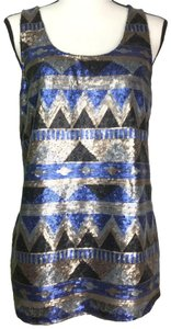 Promod Sequins Sleeveless Metallic Blingy Tunic