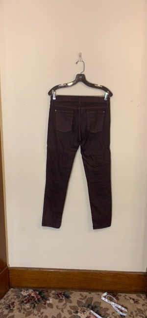 7 For All Mankind Maroon Coated Mid Rise Ankle Skinny Jeans Size 8 (M, 29, 30) 7 For All Mankind Maroon Coated Mid Rise Ankle Skinny Jeans Size 8 (M, 29, 30) Image 2