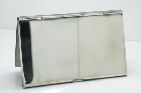 Tiffany & Co. Silver Plate Solid Business Card Holder with Pouch Image 4