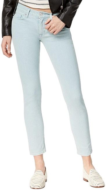 Item - Pale Blue/Green Tally Mid-rise Shaping Stretch Recovery Cropped Style No. Wmc4004dcx Skinny Jeans Size 32 (8, M)