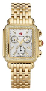 Michele Deco Stainless Mother Of Pearl Diamond Dial Mww06p000100