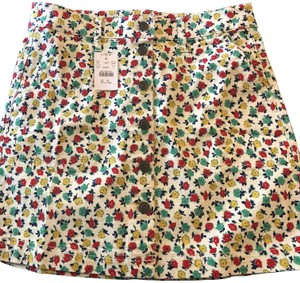 J.Crew Poppyprint Summer Mini Skirt CARMIE NATURAL POPPY