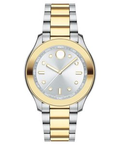 Movado Bold Two Tone Stainless Midsize 3600418 Womens