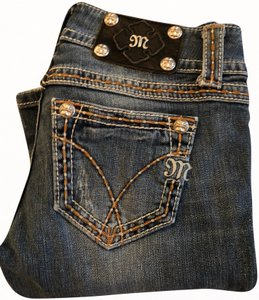 Miss Me Embroidered Stretchy Boot Cut Jeans