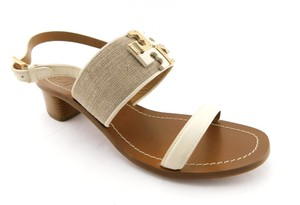Tory Burch Lowell City Reva Amanda Tan Natural / Ivory Sandals