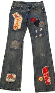 Miss Me Hippie Patches Flare Leg Jeans