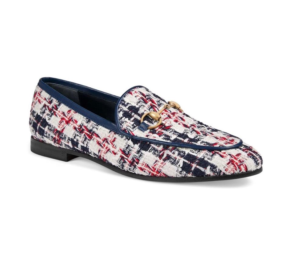 fe2df38f4c Gucci Multicolor Jordaan Tweed Check Loafers In Flats Size EU 37 (Approx.  US 7) Regular (M, B) 17% off retail