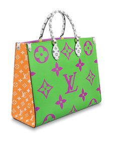 Louis Vuitton Tote in Lilac, Green, Orange, Yellow
