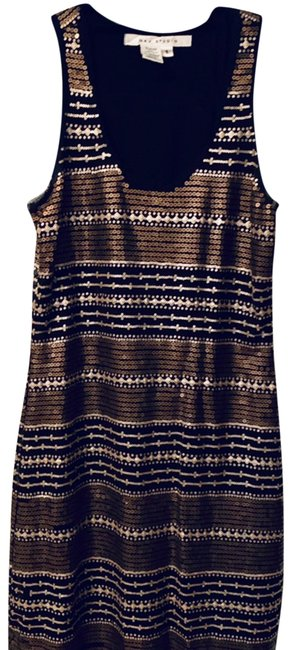 Item - Black and Gold A908056b Short Night Out Dress Size 4 (S)