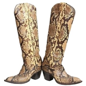Larry Mahan Tan Chocolate Brown Boots
