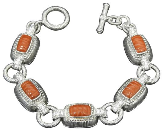 Preload https://img-static.tradesy.com/item/25547203/judith-ripka-red-sterling-silver-jasper-and-diamonique-toggle-bracelet-0-1-540-540.jpg