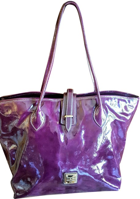 Item - Cindy Grape Patent Leather Tote