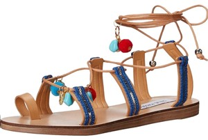 Steve Madden tan, blue, red, gold Sandals