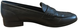 Tony Bianco Genuine Leather Loafers Almond Toe Black Formal
