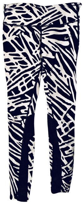 Item - Black and White Epic Lux Tight #719806 Activewear Bottoms Size 4 (S)