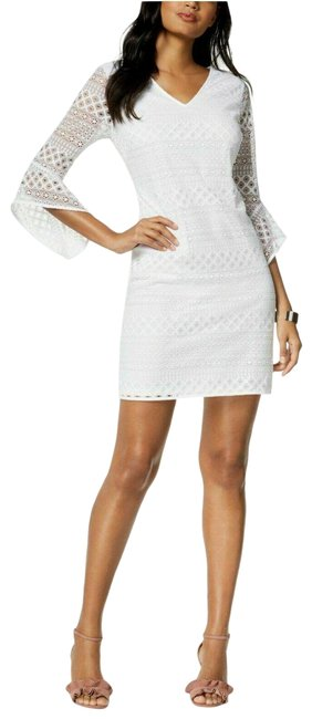 Preload https://img-static.tradesy.com/item/25547953/alfani-white-bell-34-sleeve-lace-shift-new-short-casual-dress-size-16-xl-plus-0x-0-1-650-650.jpg