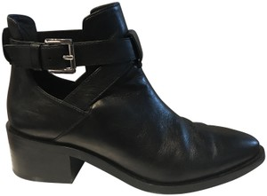 & Other Stories Hardware Straps Ankle Almond Toe Black Boots