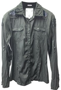 Roar Button Down Shirt black