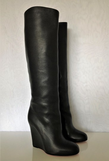 Christian Louboutin Pump Knee High Heel Black Boots Image 1