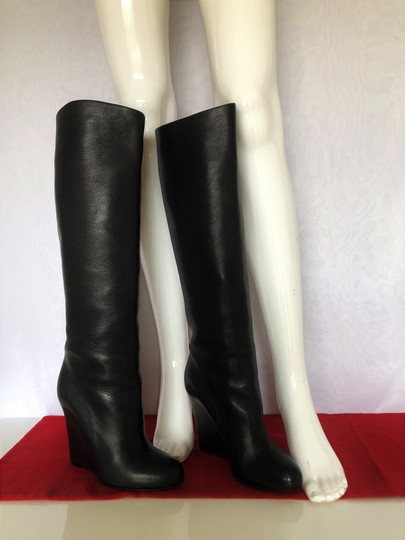 Christian Louboutin Pump Knee High Heel Black Boots Image 7