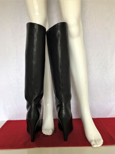 Christian Louboutin Pump Knee High Heel Black Boots Image 9