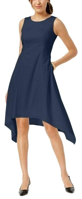 Preload https://img-static.tradesy.com/item/25548089/alfani-blue-sleeveless-asymmetrical-pockets-short-cocktail-dress-size-14-l-0-1-650-650.jpg
