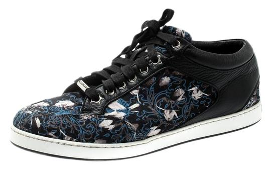 Preload https://img-static.tradesy.com/item/25548102/jimmy-choo-black-floral-printed-satin-and-leather-miami-low-top-sneakers-flats-size-eu-39-approx-us-0-1-540-540.jpg
