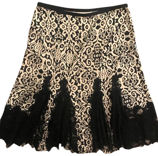 Item - Black and Cream Dvf Silk Lace Skirt Size 6 (S, 28)