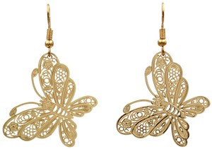 Ocean Fashion Fashion gold big butterfly earrings