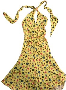 Versace Jeans Collection short dress yellow and multi on Tradesy