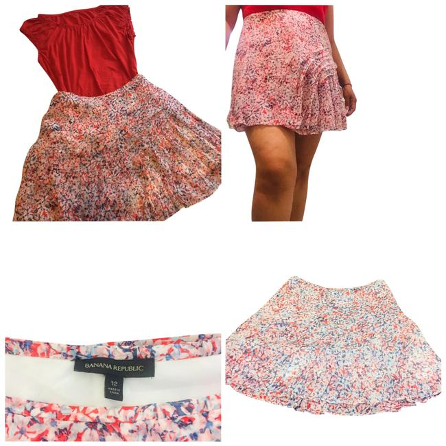 Item - Red and Blue Pleated Cross Skirt Size 12 (L, 32, 33)