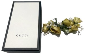Gucci Authentic Gucci Silk Yellow Roses Bouquet Floral Pin Brooch