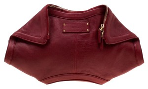 Alexander McQueen Leather Red Clutch
