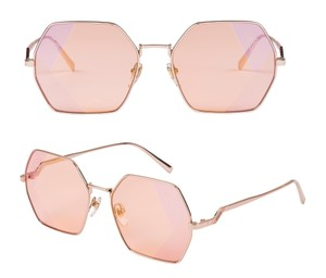 MCM MCM 126S - 780 Octo Frame ROSE GOLD / PINK SUNGLASSES