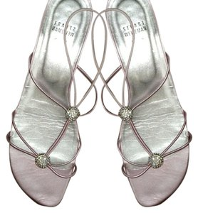 Stuart Weitzman Strappy Bling Metallic Pink with Jewels Sandals