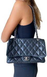 Chanel Lambskin Leather Quilted Front Flap Shoulder Bag