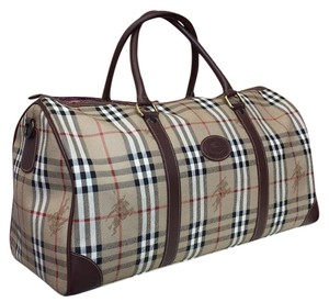 Burberry Brown Travel Bag