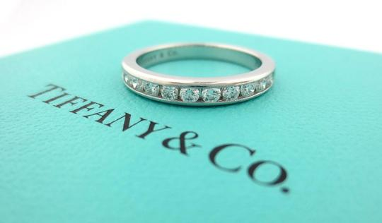 Tiffany & Co. .33ct Diamond 3mm Channel Shared Setting Eternity Wedding Band Ring Image 1